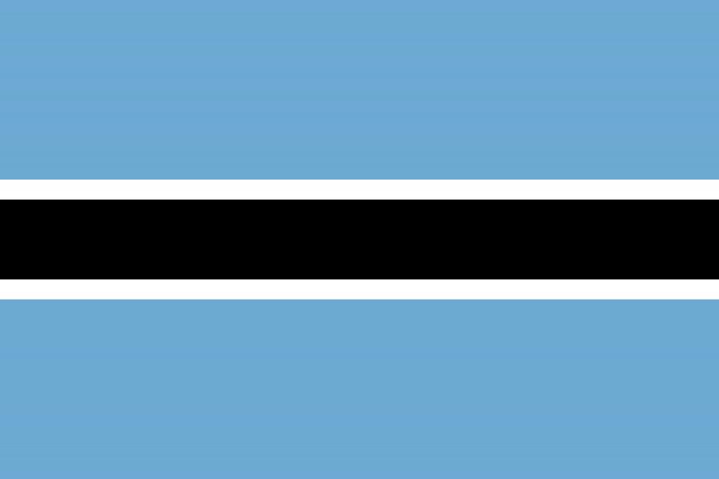 Illustration of Botswana flag