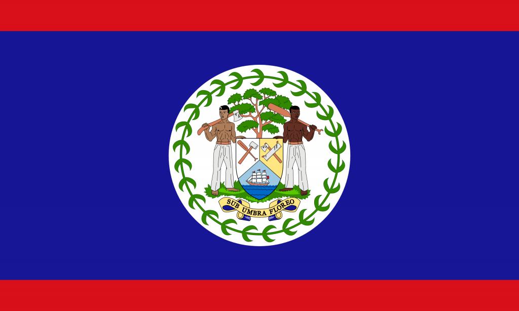 Illustration of Belize flag