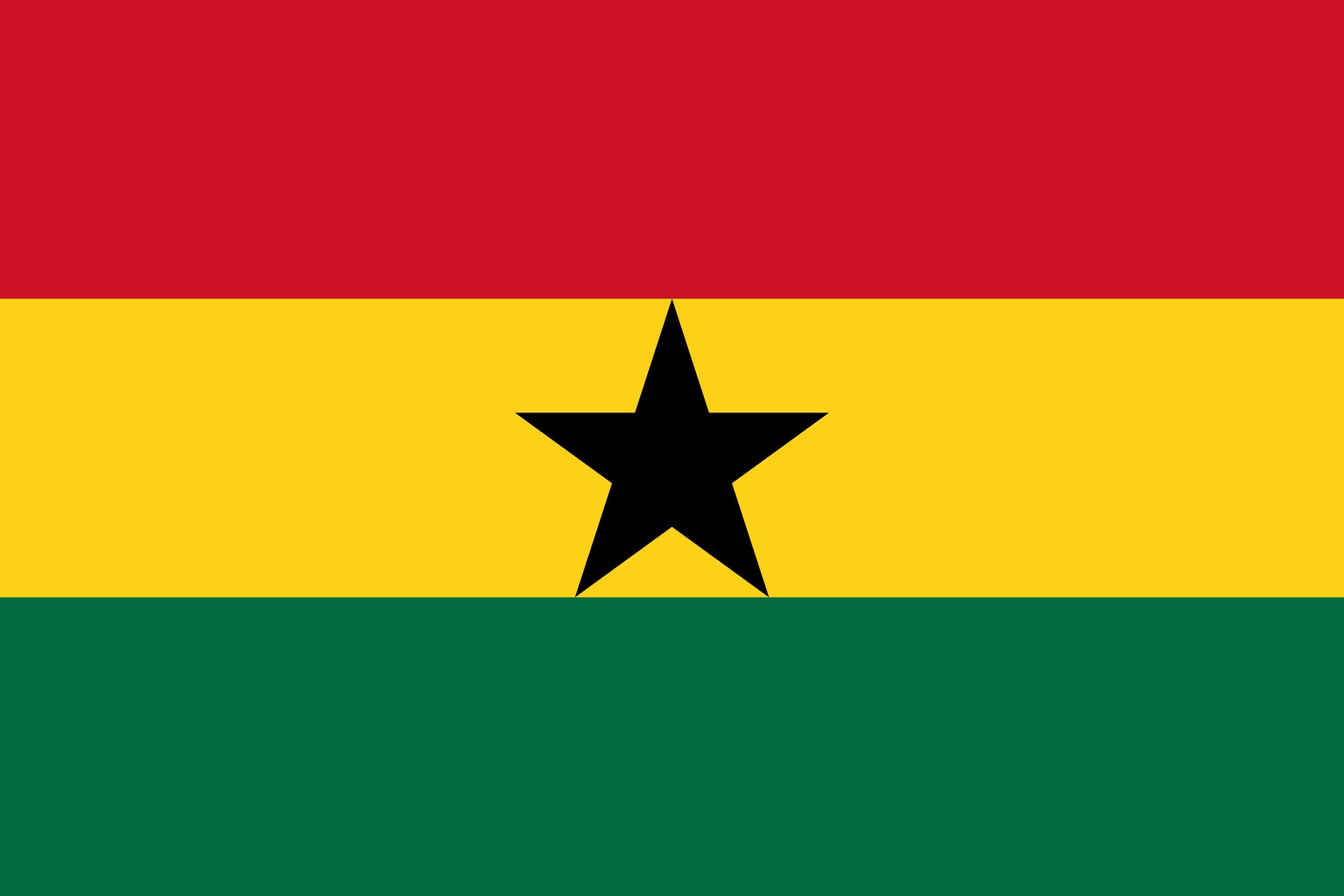 Illustration of Ghana flag