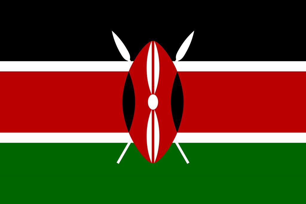 Illustration of Kenyan flag