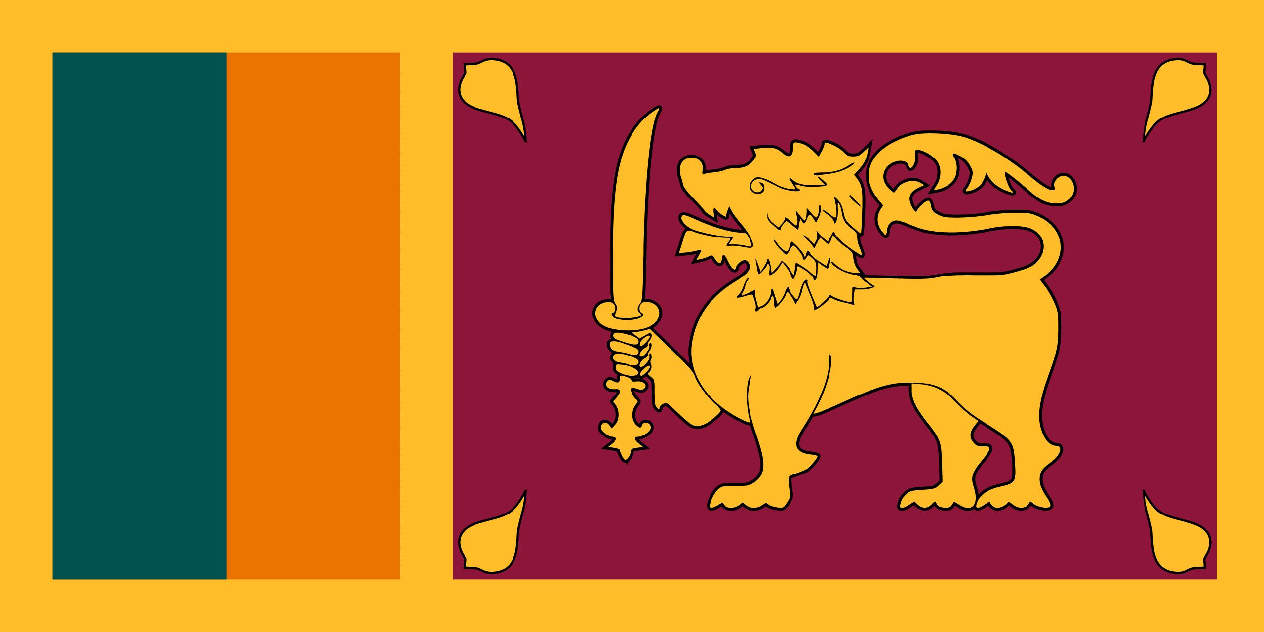 Illustration of Sri Lanka flag
