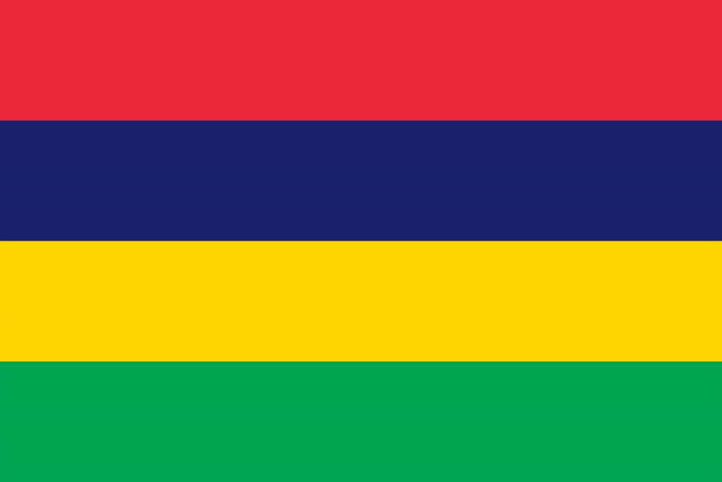 Illustration of Mauritius flag