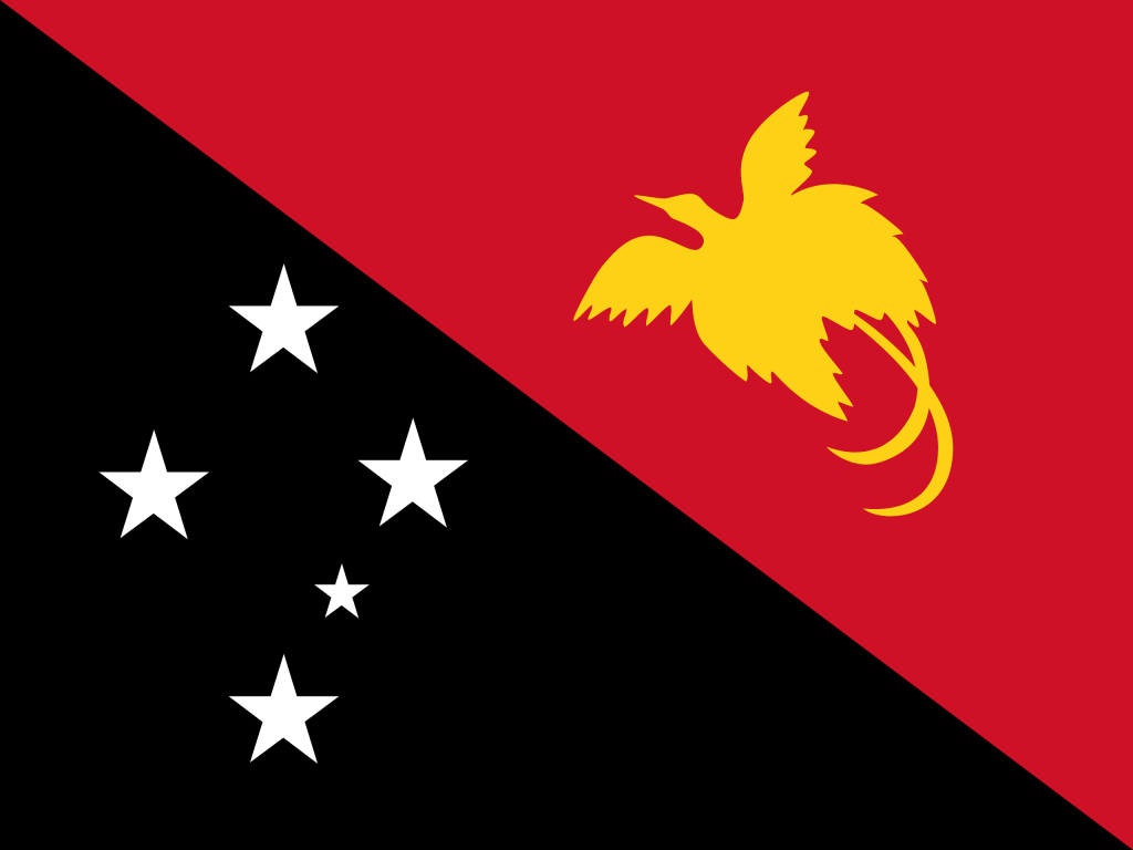 Illustration of Papua New Guinea flag