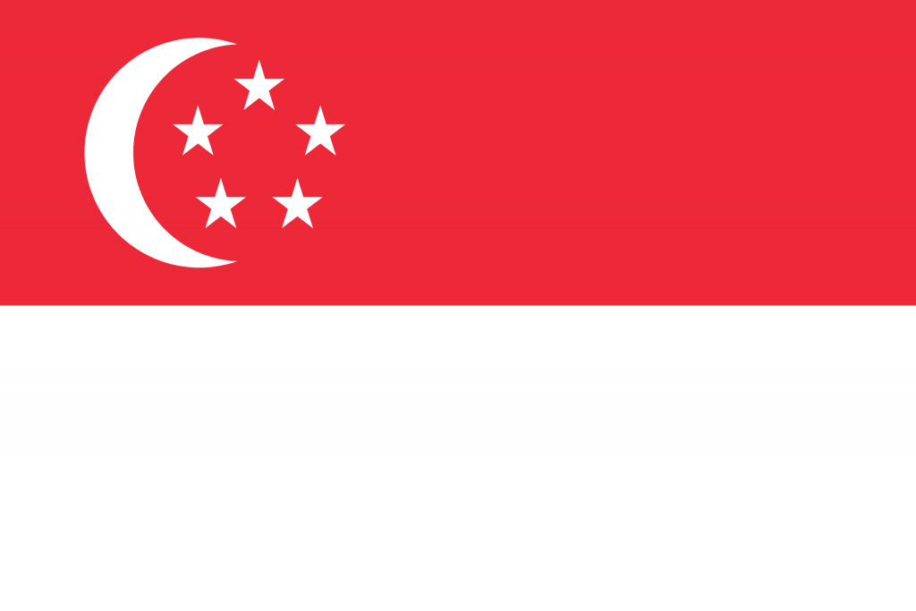 Illustration of Singapore flag